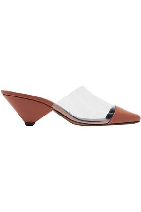 NEOUS Leather and PVC mules