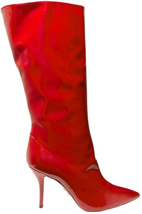 PAUL ANDREW Patent-leather knee boots
