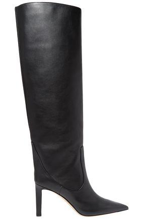 JIMMY CHOO Mavis 85 leather knee boots