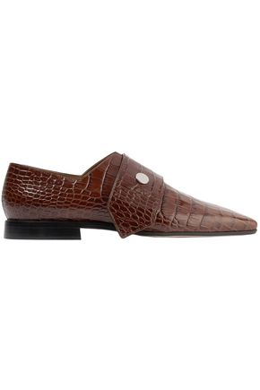 VICTORIA BECKHAM Daxton croc-effect leather loafers