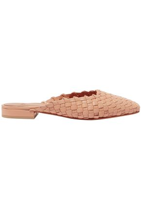 LOQ Woven leather mules