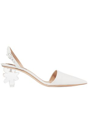 SIMONE ROCHA Leather and Perspex slingback pumps