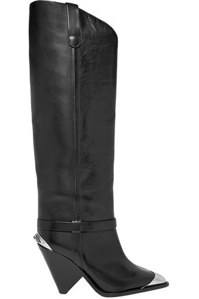 ISABEL MARANT Leather knee boots