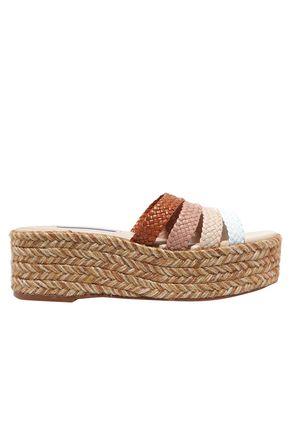 STUART WEITZMAN Elinore woven leather espadrille sandals