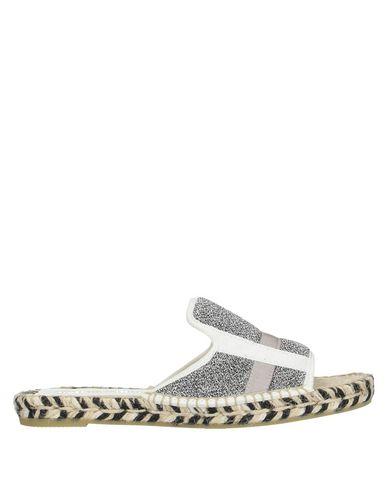 Фото - Женские сандали ESPADRILLES серебристого цвета