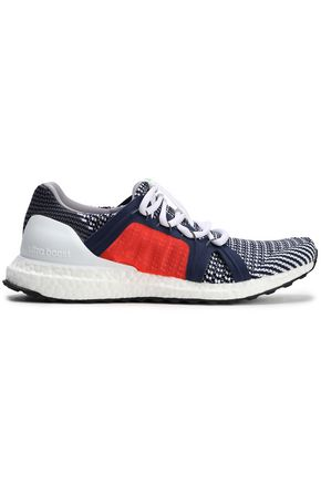 ADIDAS by STELLA McCARTNEY Ultra Boost paneled color-block stretch-knit sneakers