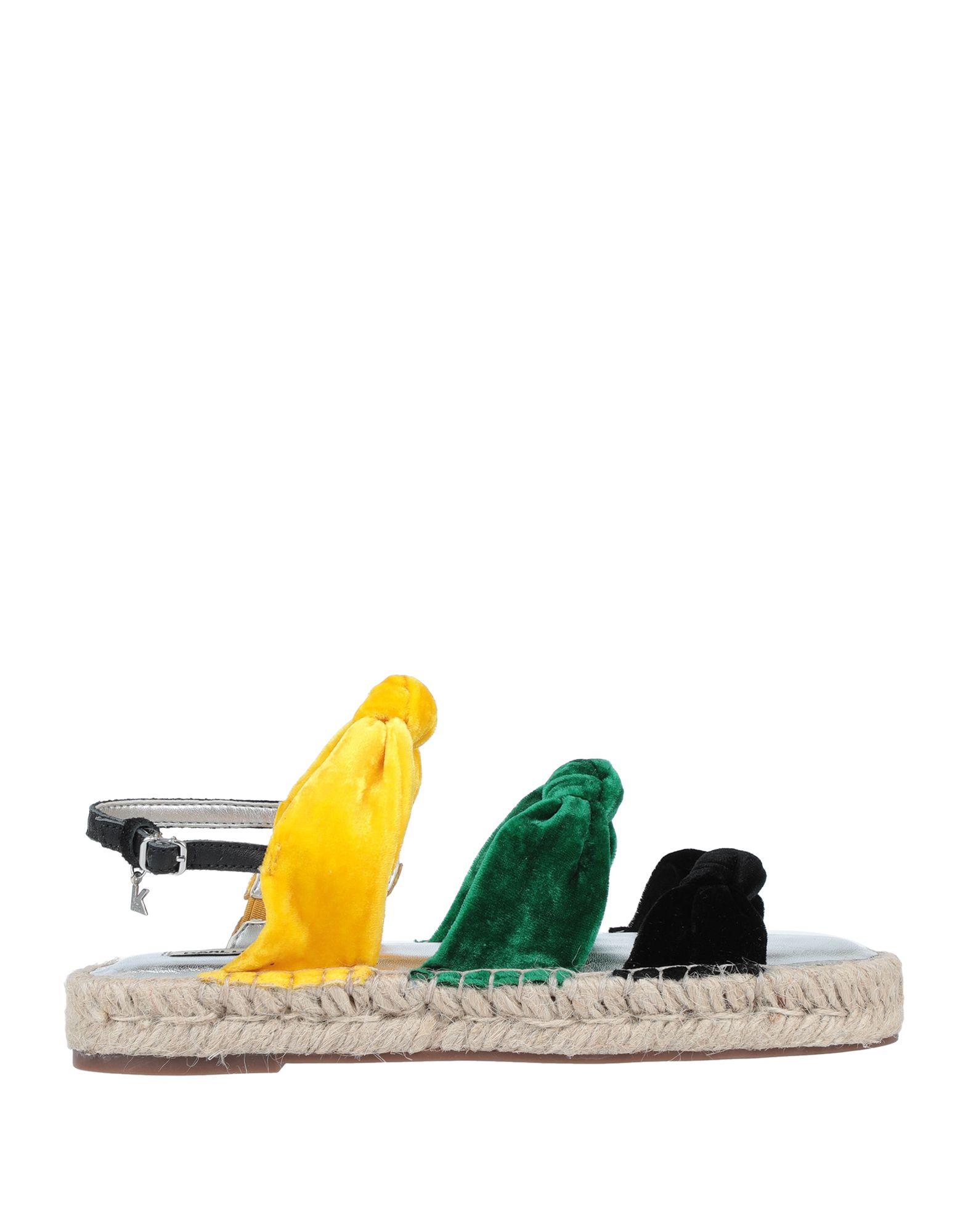 《セール開催中》KARL LAGERFELD レディース サンダル イエロー 37 紡績繊維