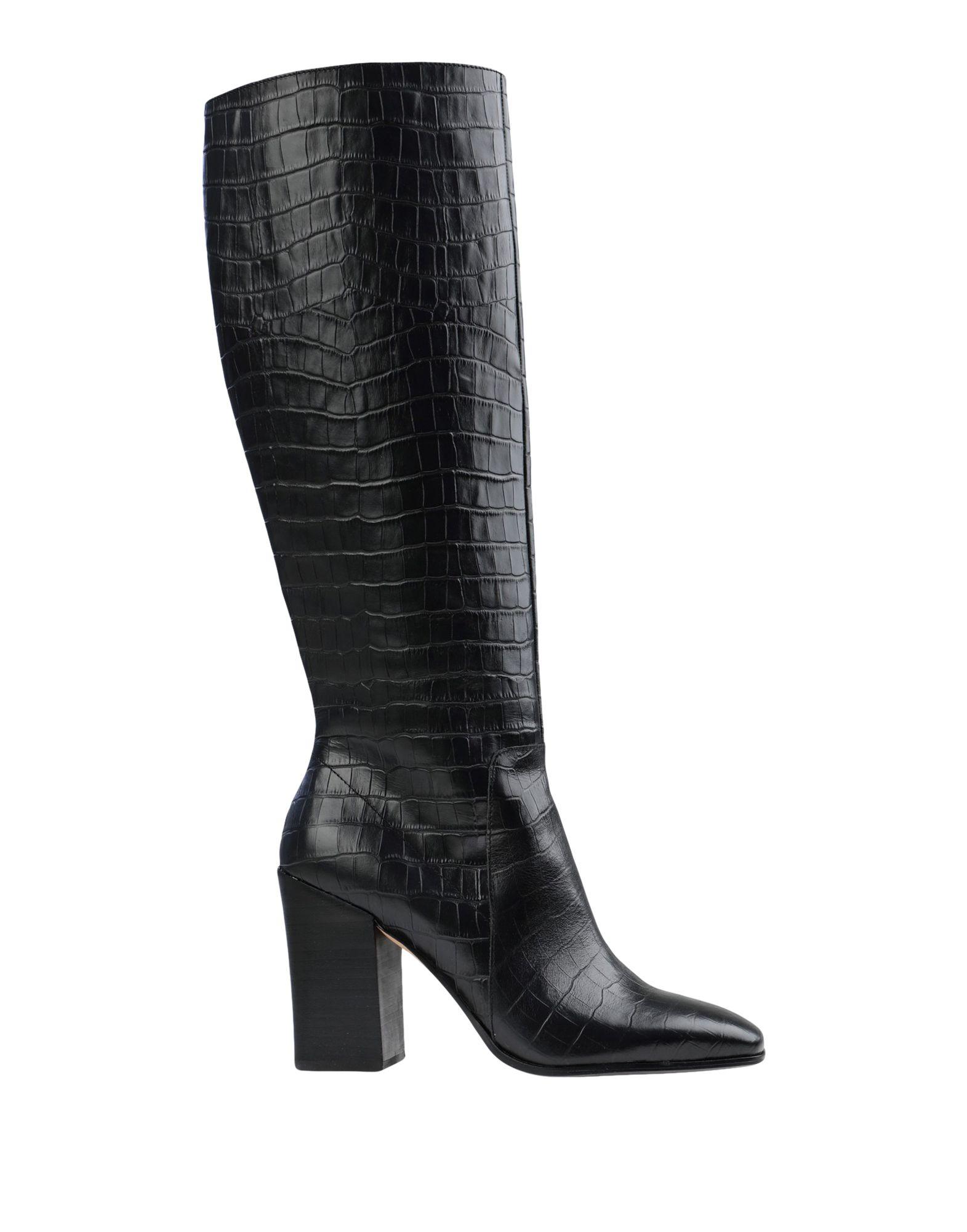 《セール開催中》DOLCE VITA レディース ブーツ ブラック 7 革 KASIDY CROCO PRINT LEATHER NOIR