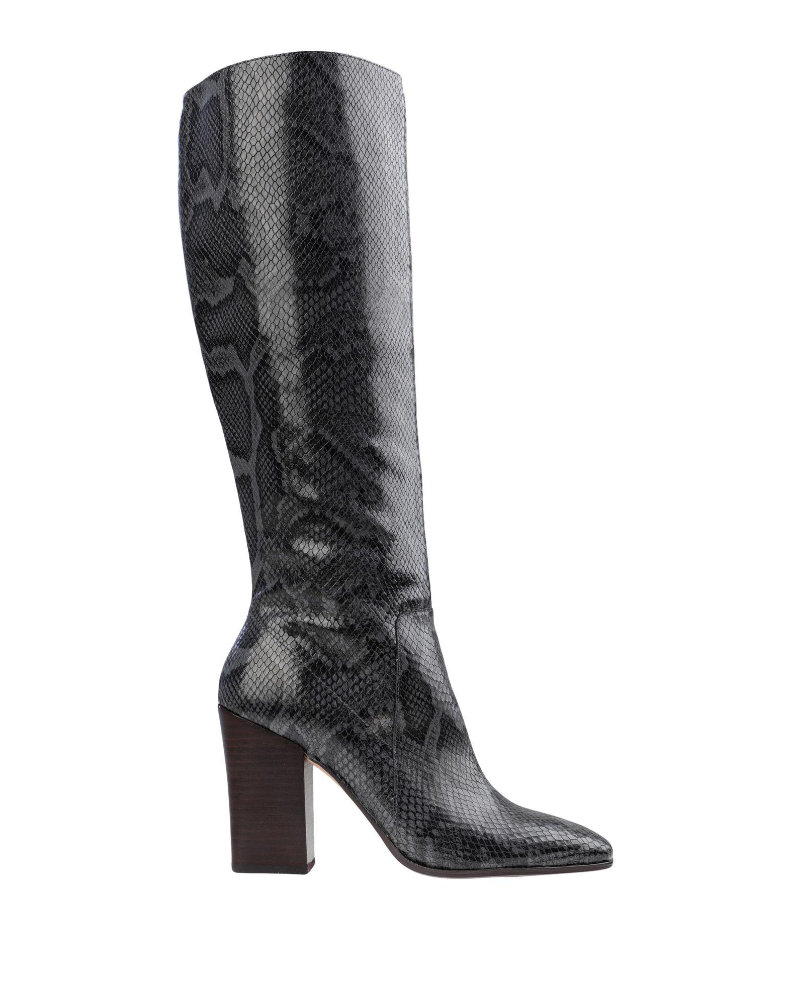 《セール開催中》DOLCE VITA レディース ブーツ 鉛色 7 革 KASIDY SNAKE PRINT LEATHER CHARCOAL