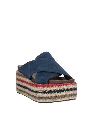 Фото 2 - Женские сандали ELVIO ZANON темно-синего цвета