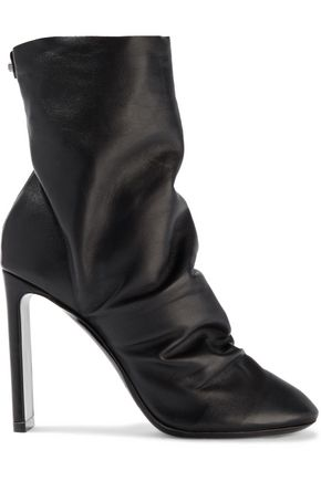 NICHOLAS KIRKWOOD D'Arcy ruched leather ankle boots