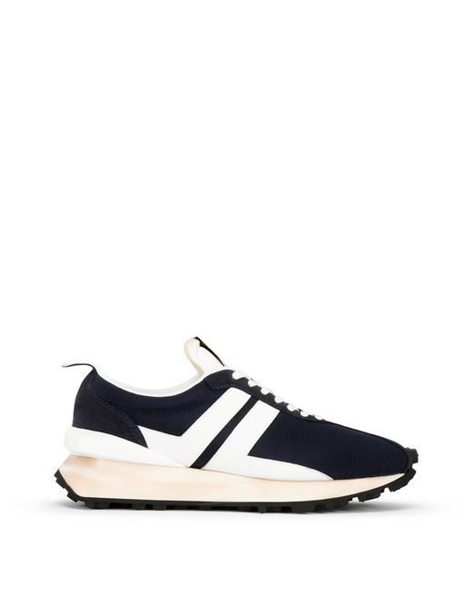 FABRIC, NAPPA AND CALFSKIN LEATHER RUNNING TRAINER - Lanvin