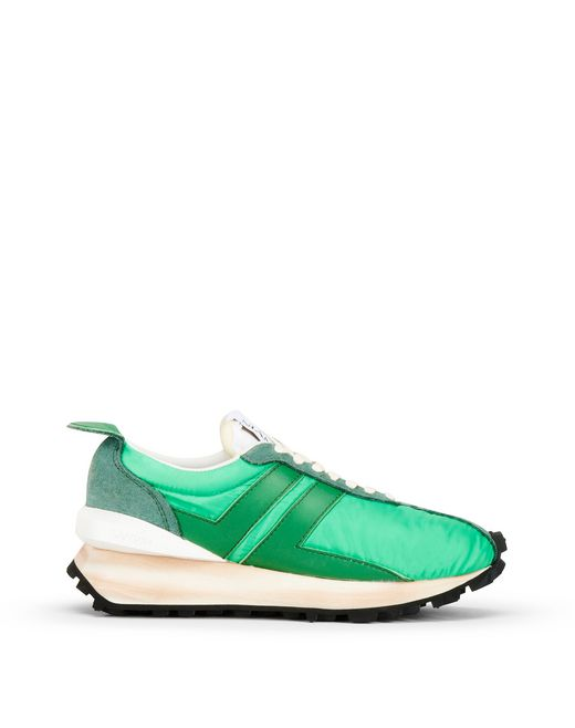 LIGHT GREEN BUMPER RUNNING TRAINER - Lanvin