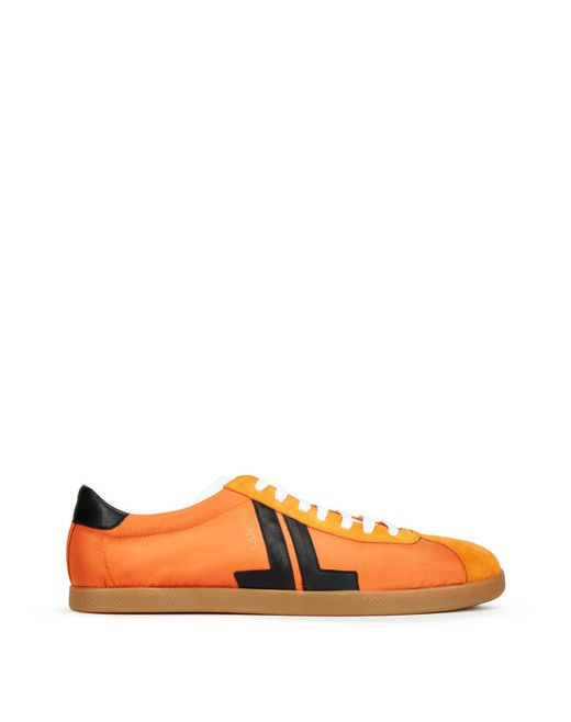 LOW-TOP NYLON, NAPPA AND CALFSKIN TRAINER - Lanvin