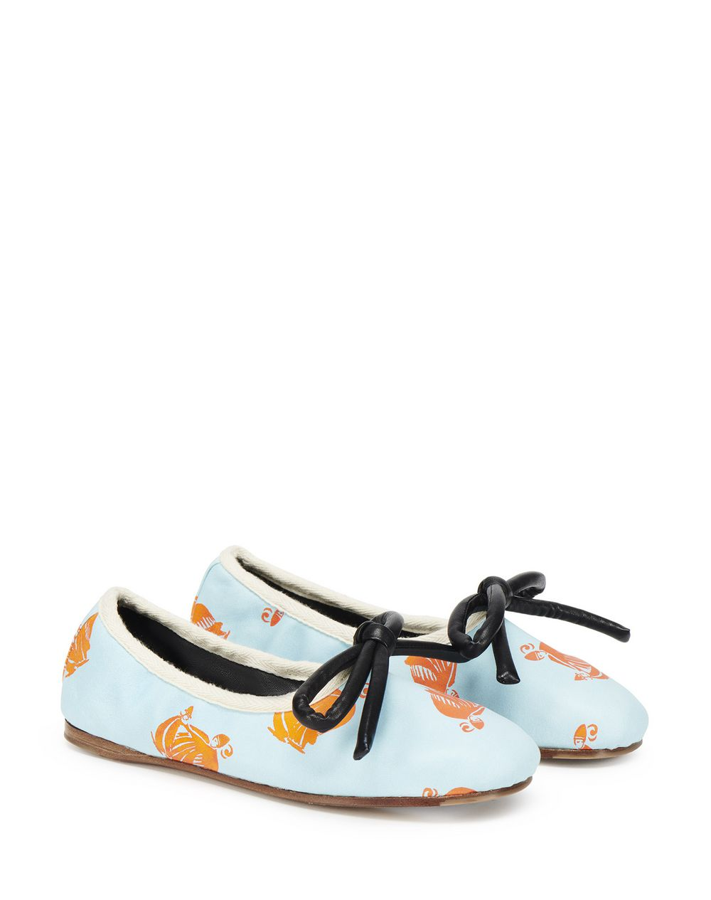 MOTHER AND CHILD PRINT BOW BALLET FLAT - Lanvin