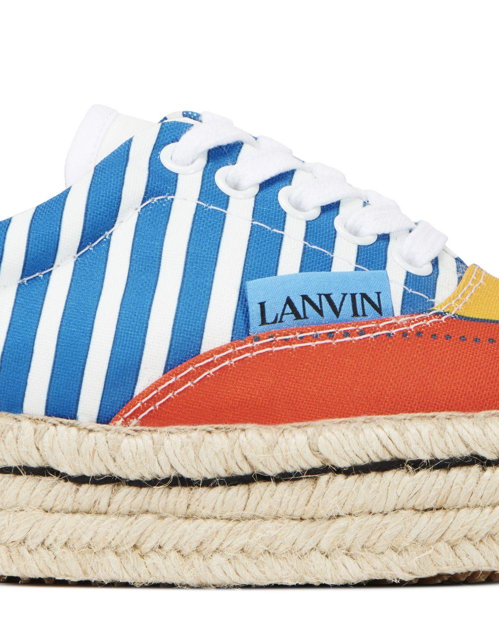 LANVIN FLAGS ESPADRILLE SNEAKER - Lanvin