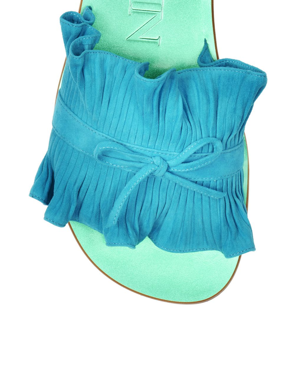 PLEATED FLAT SANDAL - Lanvin