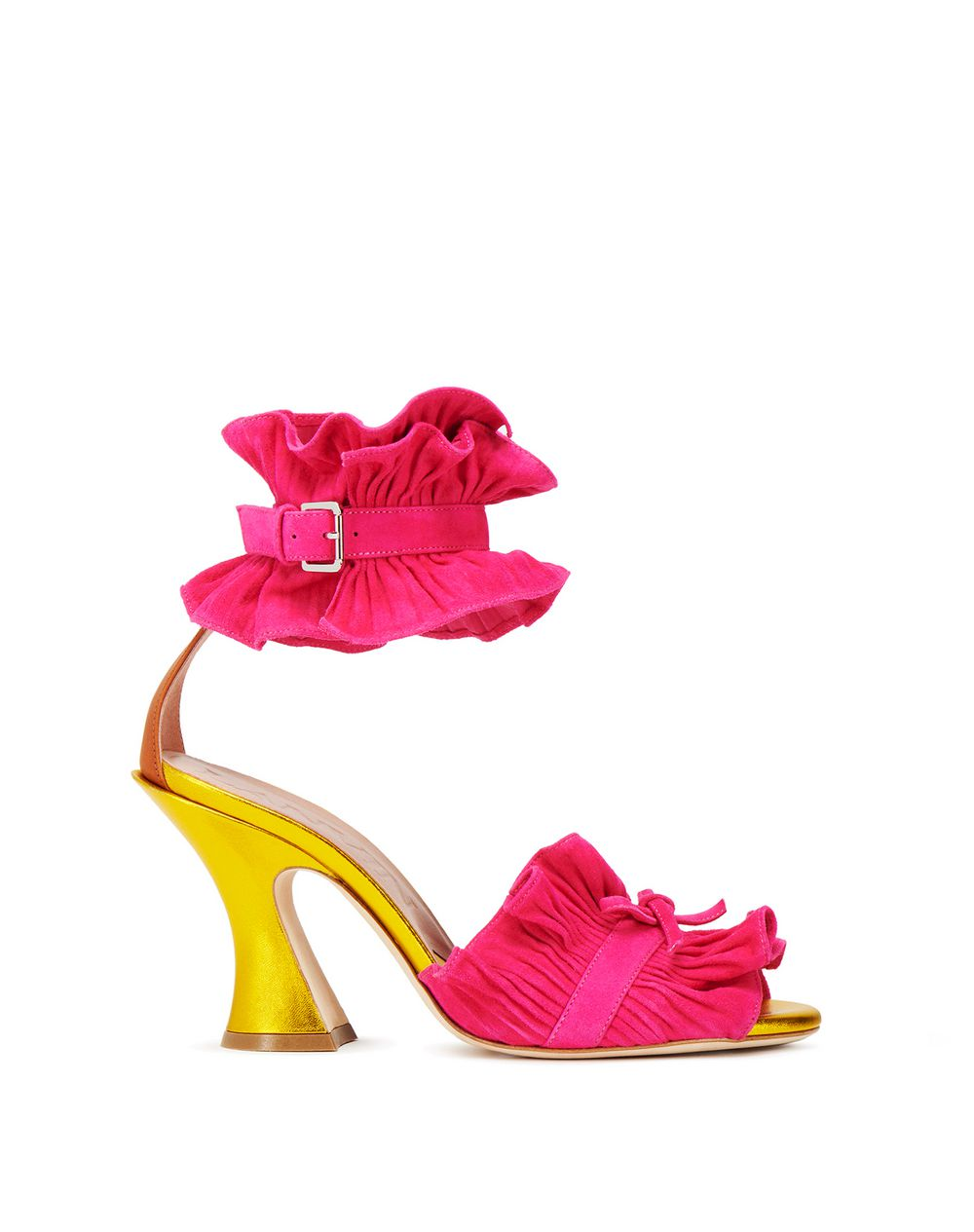 PLEATED HIGH-HEELED SANDAL - Lanvin