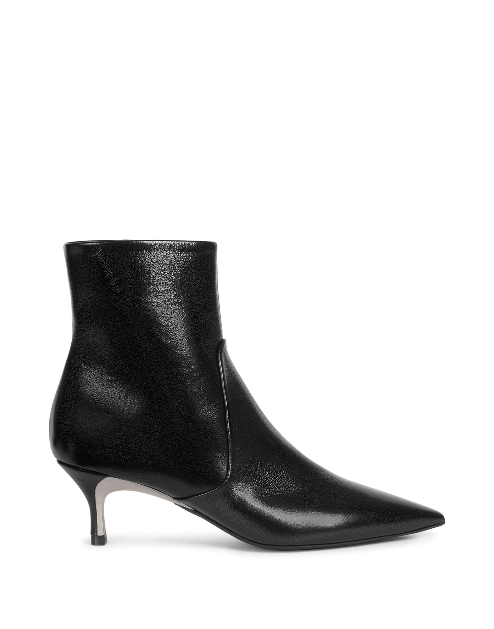 FURLA Ankle boots. varnished effect, solid color, narrow toeline, fully lined, spike heel, zip, rubber sole, no appliqués, contains non-textile parts of animal origin. 100% Soft Leather