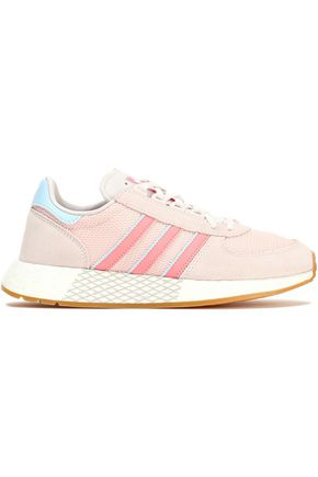 ADIDAS ORIGINALS Leather-trimmed suede and mesh sneakers