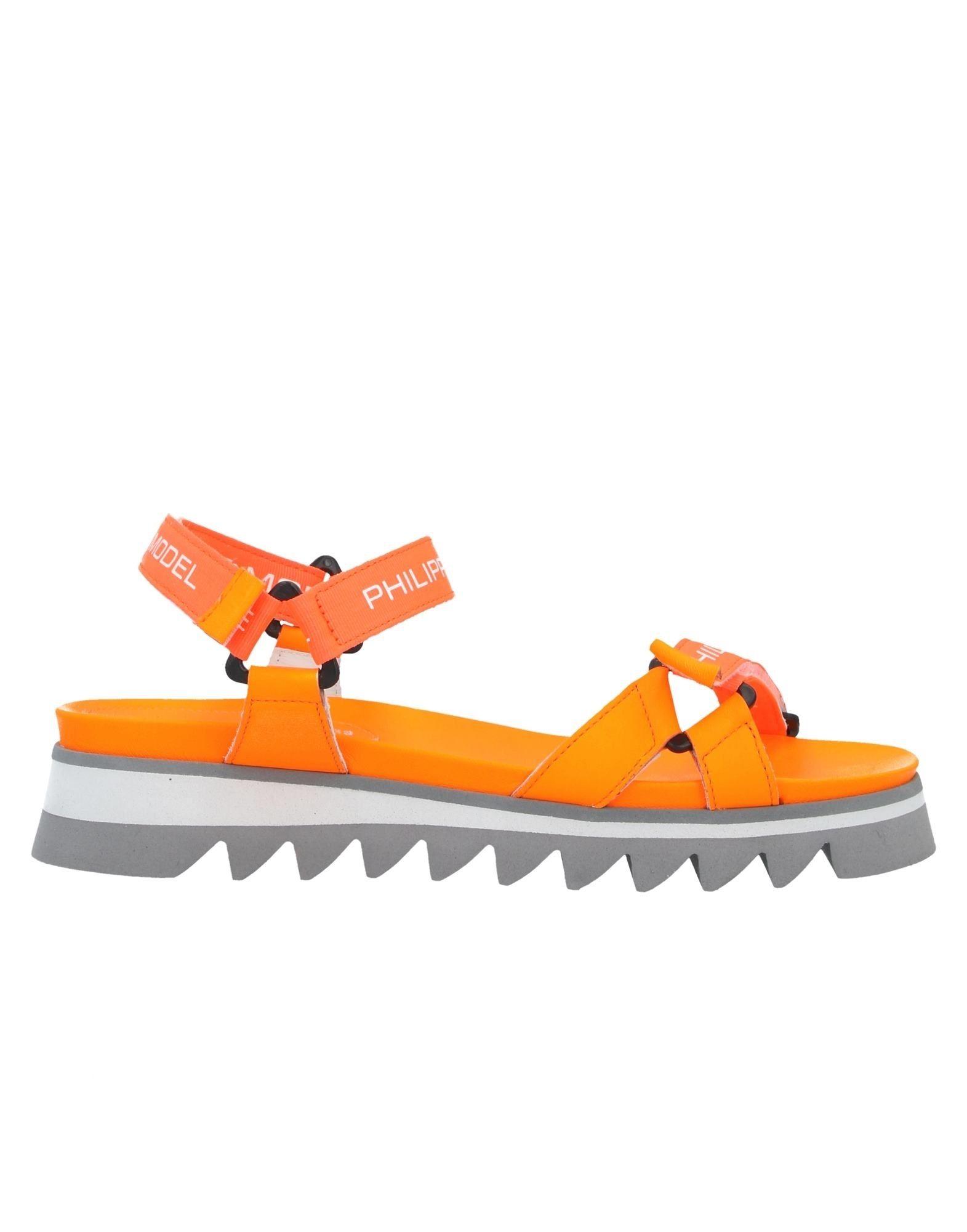 《セール開催中》PHILIPPE MODEL レディース サンダル オレンジ 39 革 / 紡績繊維