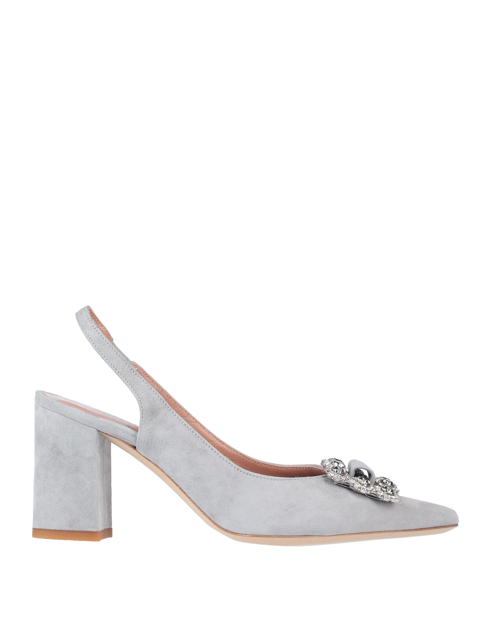 ELEVENTY Pumps. leather, suede effect, rhinestones, solid color, narrow toeline, square heel, covered heel, elasticized straps, leather lining, leather/rubber sole, contains non-textile parts of animal origin. Soft Leather