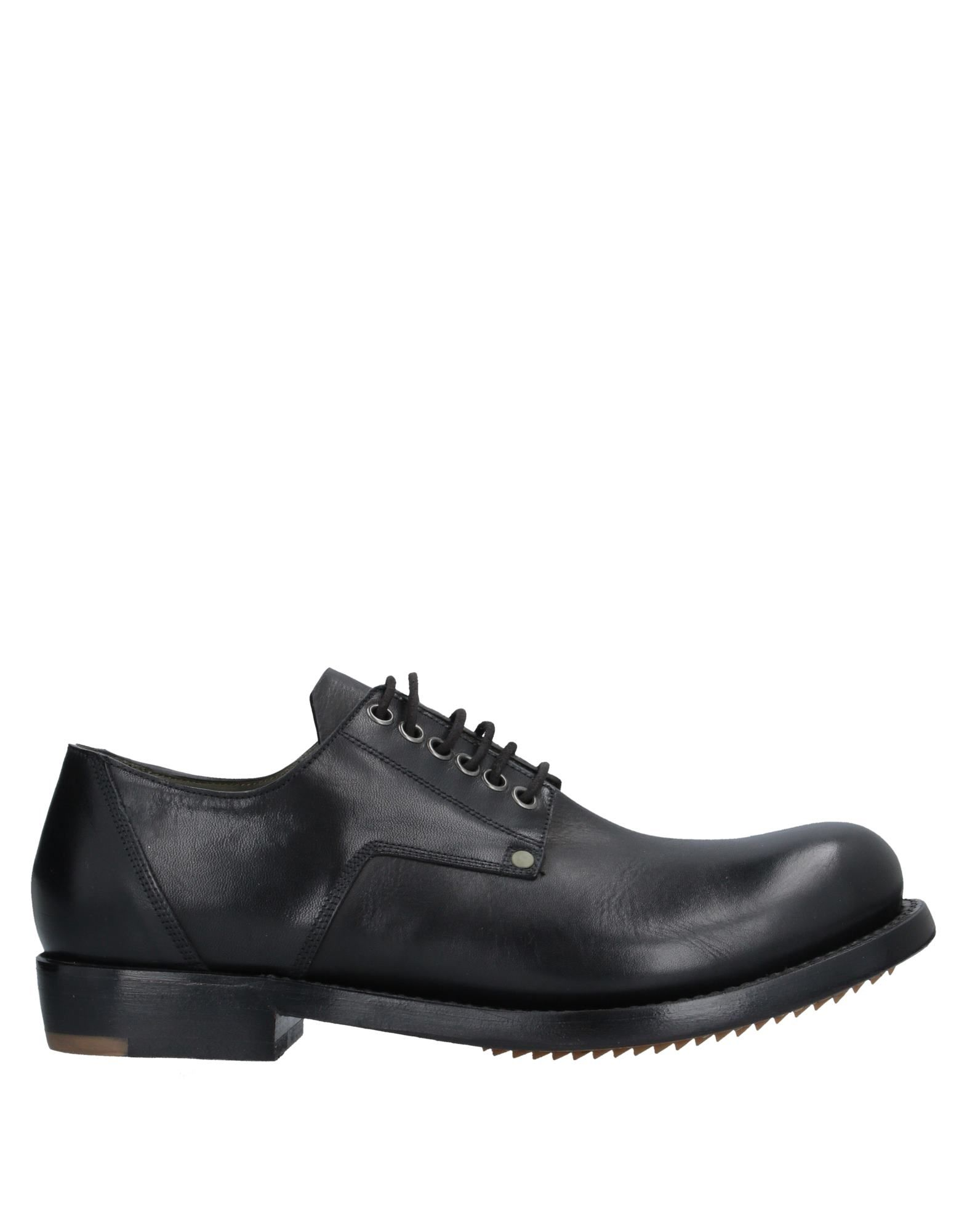 RICK OWENS Lace-up shoes. no appliqués, solid color, round toeline, square heel, leather lining, leather/rubber sole, contains non-textile parts of animal origin. Soft Leather