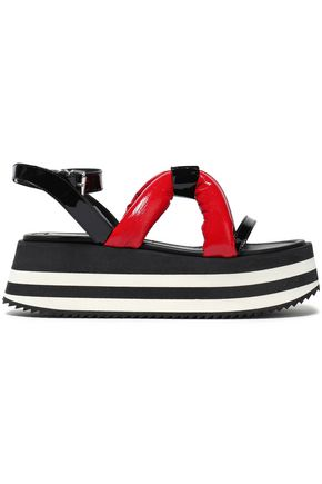 McQ Alexander McQueen Padded patent-leather platform sandals