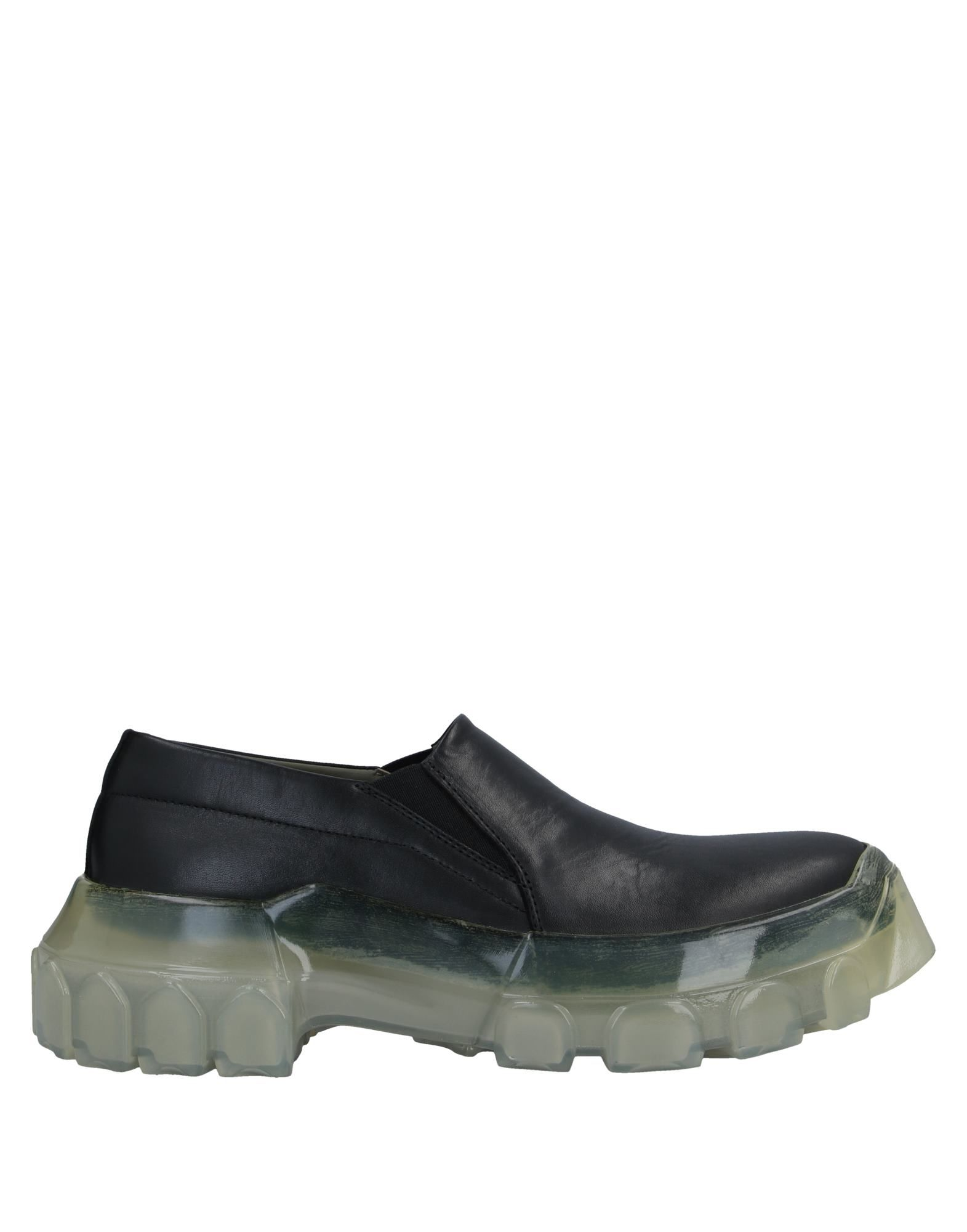 RICK OWENS Loafers. leather, no appliqués, solid color, elasticized gores, round toeline, square heel, leather lining, rubber sole, contains non-textile parts of animal origin. Soft Leather