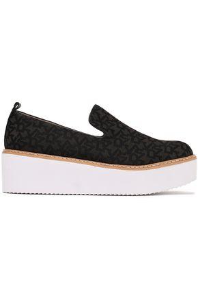 DKNY Bari logo-jacquard platform slip-on sneakers