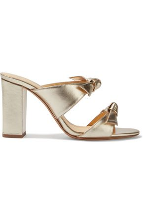 ALEXANDRE BIRMAN Knotted metallic leather mules