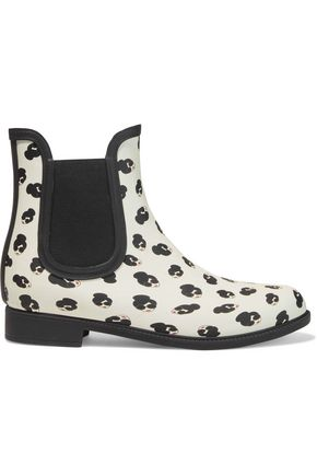 ALICE + OLIVIA Rainely printed rubber rain boots