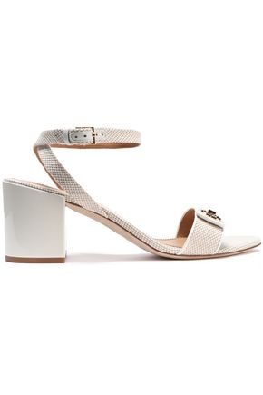 TORY BURCH Logo-embellished canvas sandals