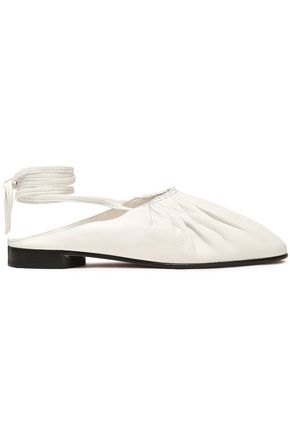 3.1 PHILLIP LIM Lace-up pleated leather ballet flats