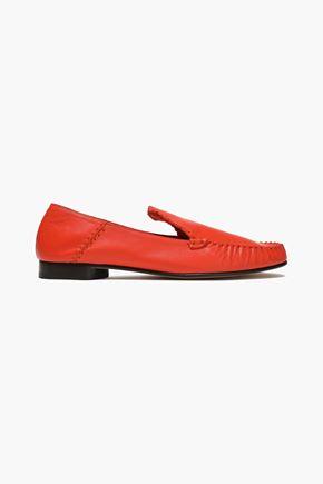 """3.1 PHILLIP LIM حذاء لوفر """"ناديا"""" من الجلد النافر مع درزات ظاهرة"""