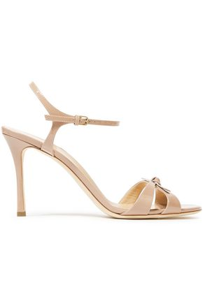 SERGIO ROSSI Bow-embelished patent-leather sandals