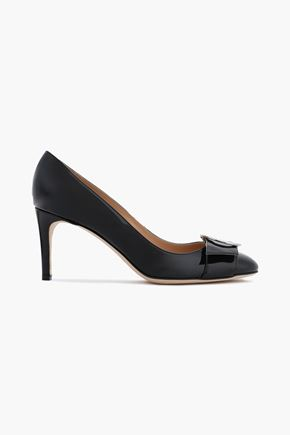 SERGIO ROSSI Buckle-embellished patent-leather pumps