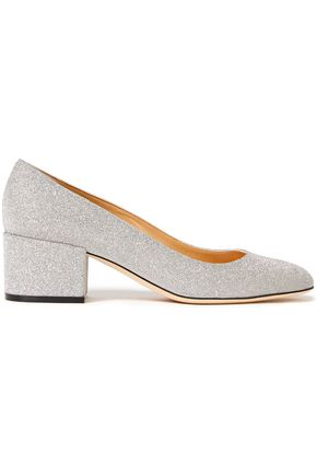 SERGIO ROSSI Glittered leather pumps