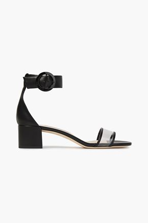 JIMMY CHOO Jaimie leather and perspex sandals