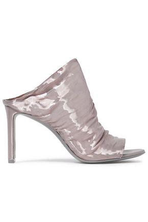 NICHOLAS KIRKWOOD Ruched moiré sandals