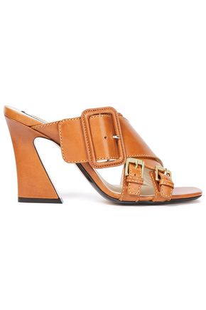 N°21 Buckled leather mules