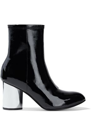 """OPENING CEREMONY حذاء بوت على شكل جوارب """"ديلان"""" من الجلد اللامع المجعد"""