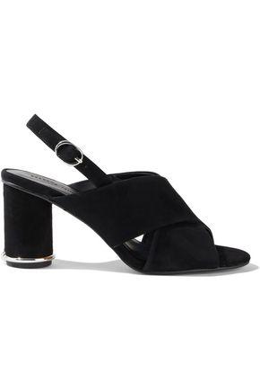 REBECCA MINKOFF Aaiden embellished suede slingback sandals
