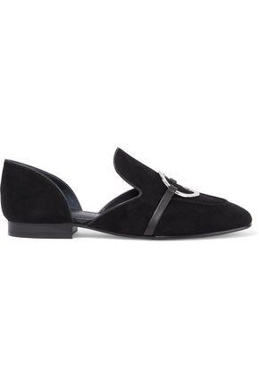 """SIGERSON MORRISON حذاء لوفر """"إيانتيه"""" من الشامواه مزيّن بحلقات"""
