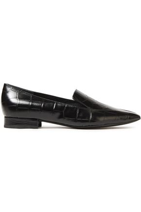 SIGERSON MORRISON Croc-effect leather loafers
