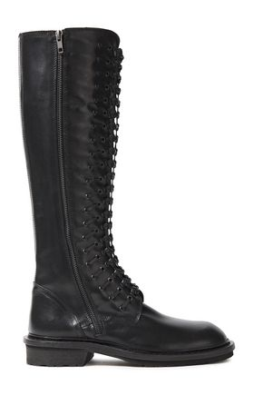 ANN DEMEULEMEESTER Knotted leather boots