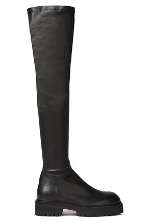 ANN DEMEULEMEESTER Stretch-leather over-the-knee boots