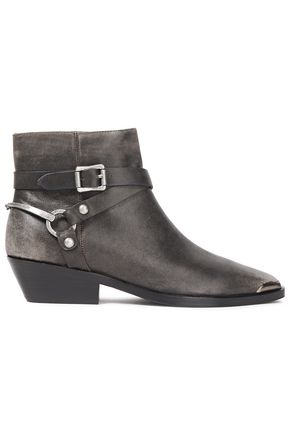 SIGERSON MORRISON Jade buckled burnished-leather ankle boots