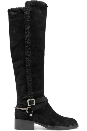 SIGERSON MORRISON Hardine shearling-lined suede knee boots