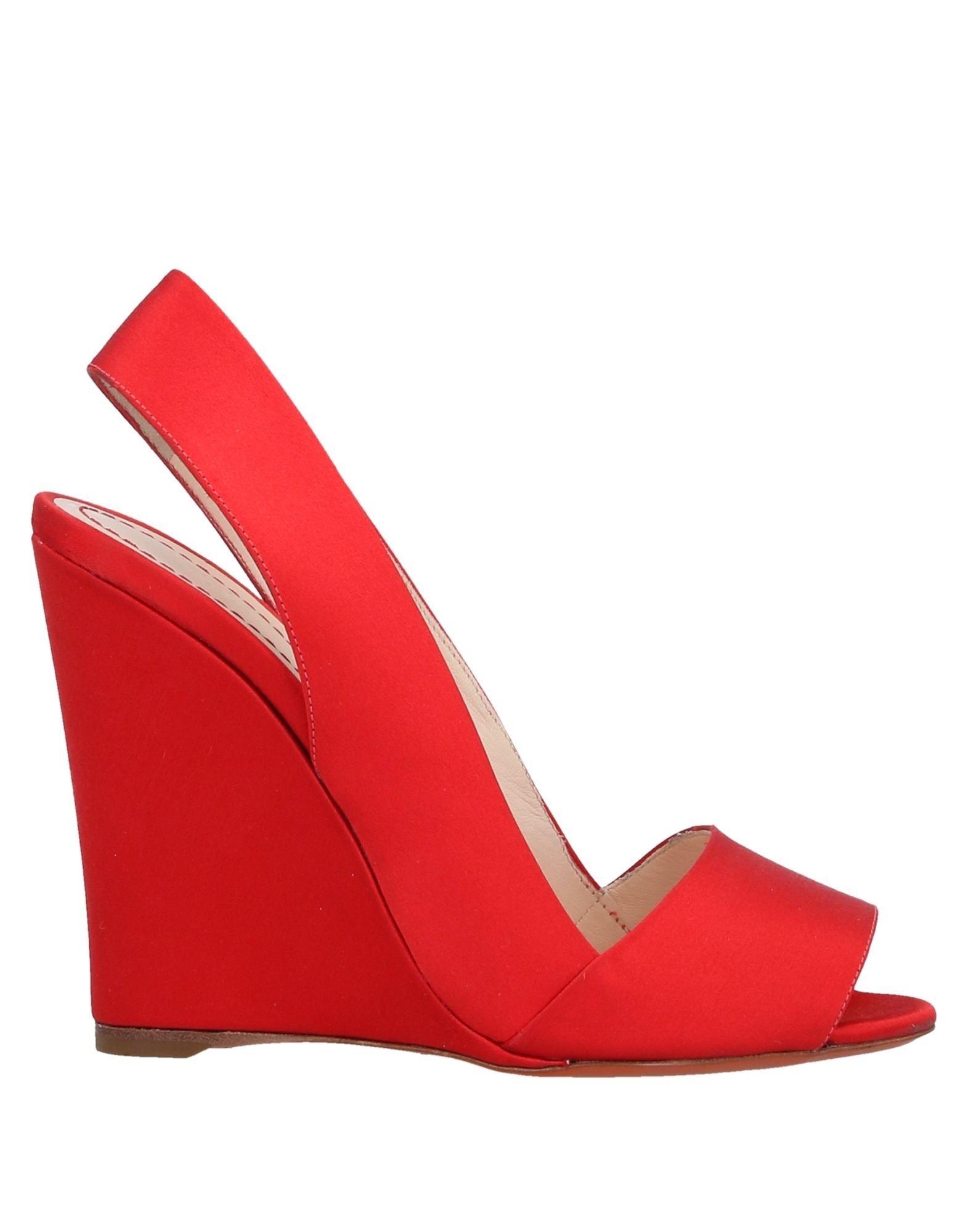 SANTONI Sandals. satin, no appliqués, solid color, narrow toeline, wedge heel, leather lining, leather sole, contains non-textile parts of animal origin, large sized. Textile fibers